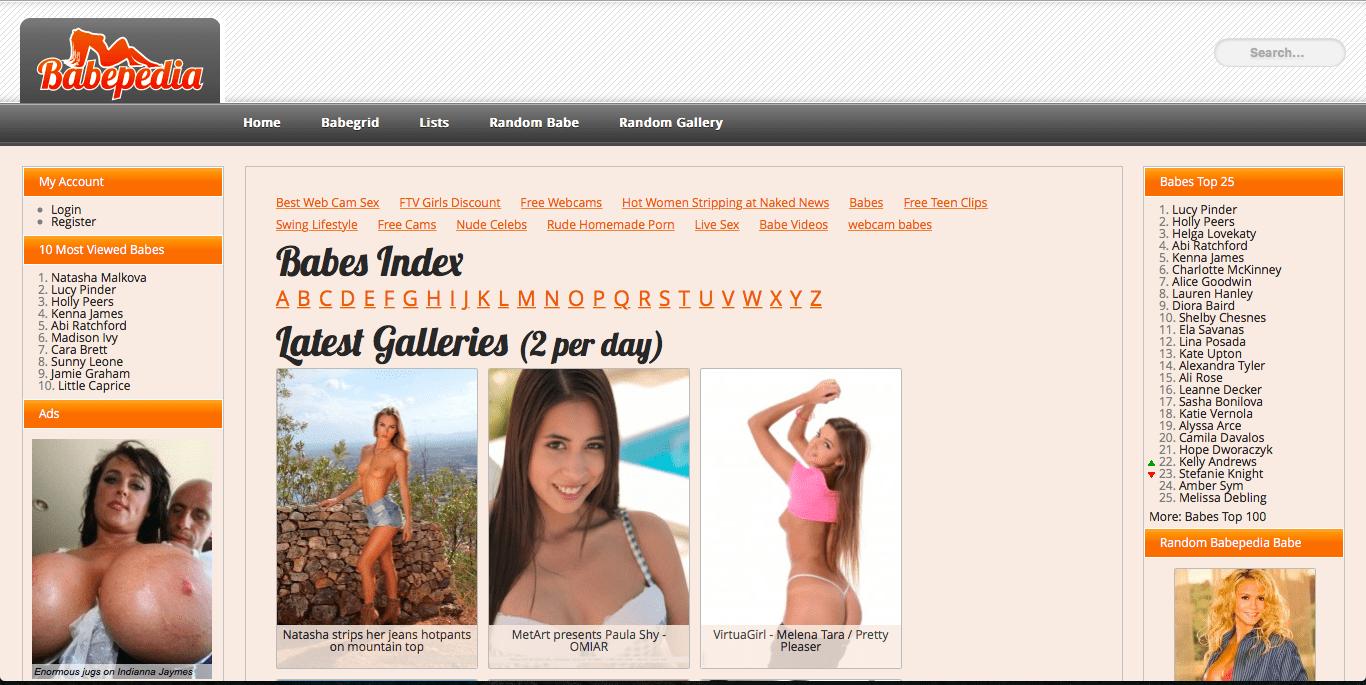 10 Best Free Porn Websites babepedia - the safe porn